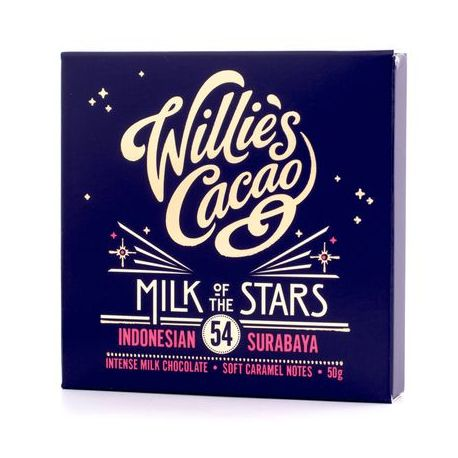 Willie's Cacao - Czekolada 54% - Milk of the Stars Indonezja 50g