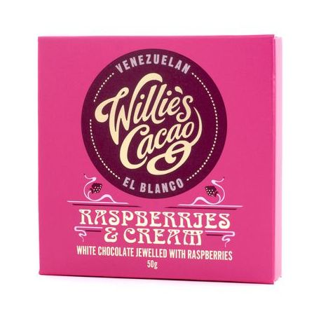 Willie's Cacao - Czekolada 36% - Raspberries and Cream 50g