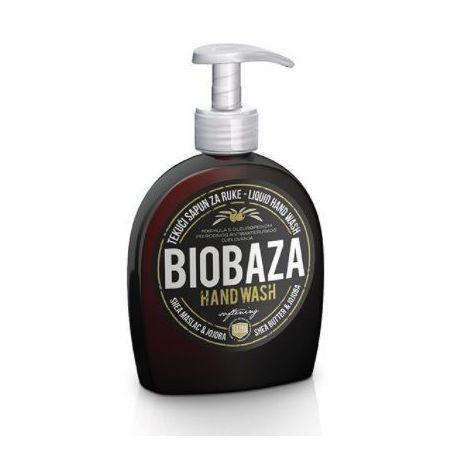 BIOBAZA HAND WASH - mydło w płynie z masłem shea i jojoba - 300g