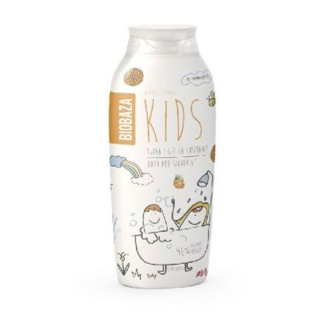 BIOBAZA KIDS - szampon do włosów z mandarynką i pomarańczą - 250ml