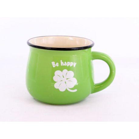 Kubek zielony Be happy - 250ml