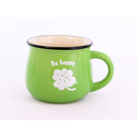 Kubek zielony Be happy - 350ml