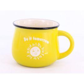 Kubek ceramiczny żółty Do it tomorrow - 350ml