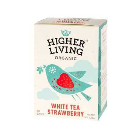 Higher Living White Tea Strawberry 20x1,75g