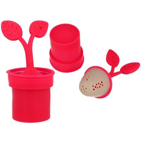 Zaparzacz do herbaty - Różowa roślinka