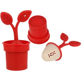 Zaparzacz do herbaty - Czerwona roślinka