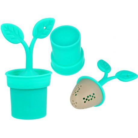 Zaparzacz do herbaty - Turkusowa roślinka