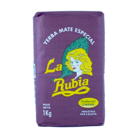Yerba Mate La Rubia Elaborada Con Palo Tradiciona - 1000g