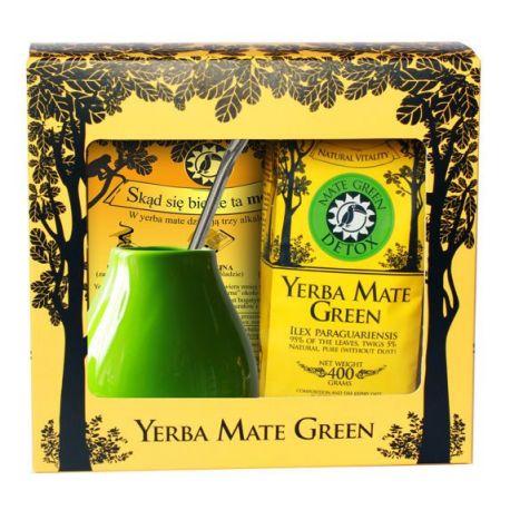 Zestaw Yerba Mate Green Detox 200g w pudełku + akcesoria