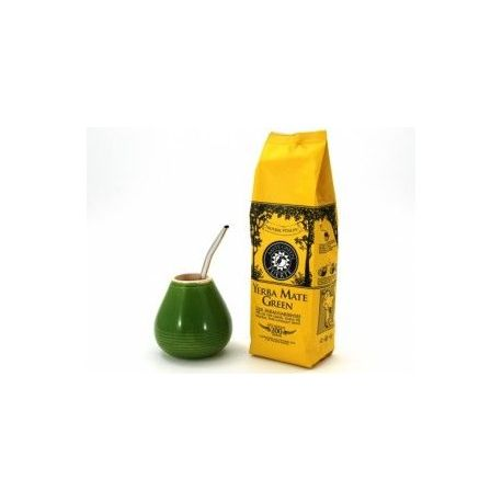Zestaw Yerba Mate Green Fuerte 200g w pudełku + akcesoria