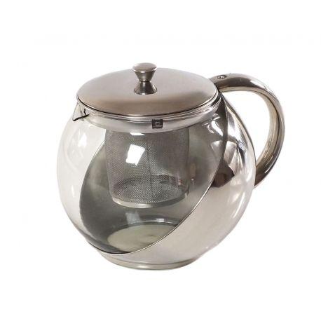 Dzbanek do herbaty stalowy z zaparzaczem - 500ml