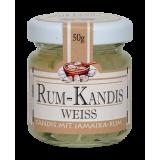 Kandyz o smaku rumowym BIAŁY - słoiczek 50g