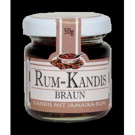 Kandyz o smaku rumowym BRĄZOWY - słoiczek 50g
