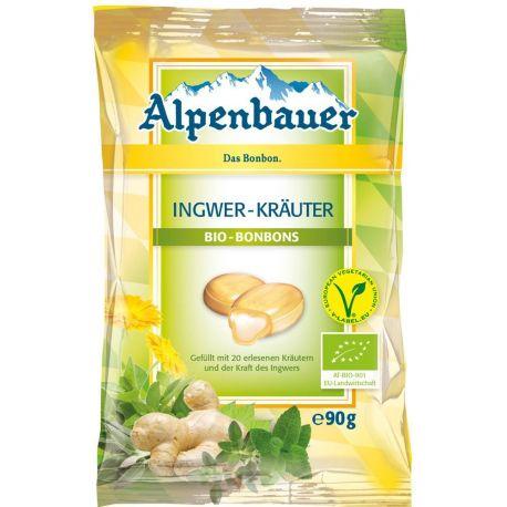 Cukierki z nadzieniem o smaku imbirowo - ziołowym 90 g - ALPENBAUER