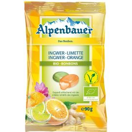 Cukierki z nadzieniem o smaku imbirowo-limonkowym i imbirowo-pomarańczowym 90 g - ALPENBAUER