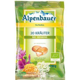 Cukierki z nadzieniem o smaku ziołowym 90 g - ALPENBAUER