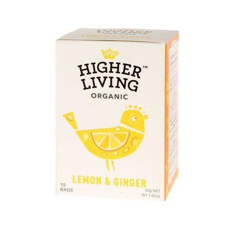 Higher Living Lemon & Ginger - herbata - 15 saszetek