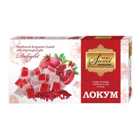 Lokum - Bułgarski przysmak z granatem - 250g