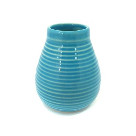 Matero ceramiczne Calabaza niebieskie - 350ml
