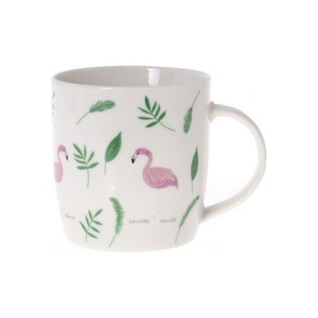 Kubek flamingi i liście 300ml