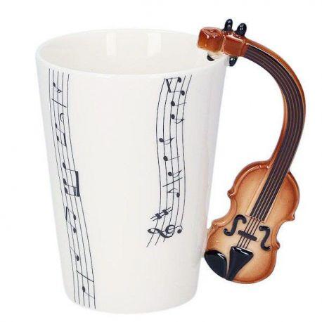 Kubek muzyczny - skrzypce brązowe