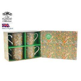 Kpl. 4 kubków - William Morris (zielone pudełko)