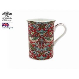 Kubek porcelanowy - Strawberry Thief red