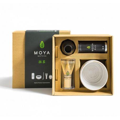 Zestaw Moya Matcha Traditional 5-częściowy z czarką białą