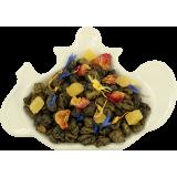 Zielona herbata z ananasem, płatkami róży i chabrem - 100g