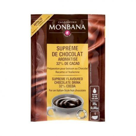 Monbana-czekolada rozpuszczalna o smaku waniliowym - 25g