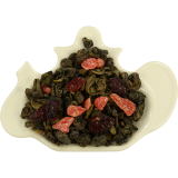Zielona herbata z truskawką, żurawiną, melonem i marakują - 100g