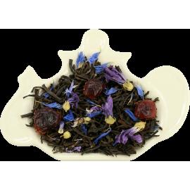 Czarna herbata z żurawiną, bławatkiem, ananasem i papają - 100g