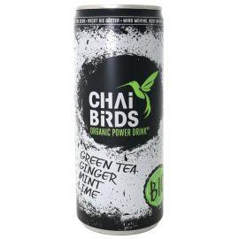 Napój orzeźwiający zielona herbata, imbir, mięta, limonka - puszka250ml - Chai Birds