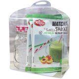 Zestaw 5x shake matcha w proszku z morelami 30g + szklanka