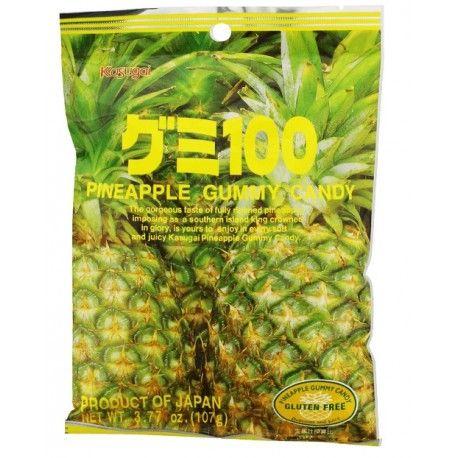 Japońskie żelki o smaku ananasa - torebka 107g