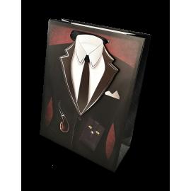 Torba prezentowa - garnitur z krawatem - mała