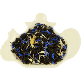 Czarna herbata z kwiatem białego i niebieskiego chabru - 100g