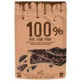 Listki kakao criollo 100% z kruszonymi ziarnami 80g - BELVAS