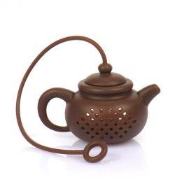 Zaparzacz silikonowy - brązowy czajniczek