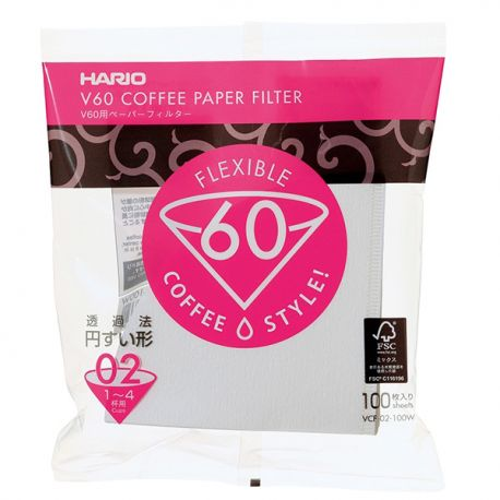 Hario filtry papierowe V60-02 - 100szt.