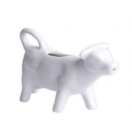 Porcelanowy biały mlecznik w kształcie krówki