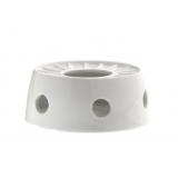 Porcelanowa podstawka z podgrzewaczem  - biały