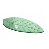 Szklana patera w kształcie liścia