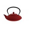 Żeliwny dzbanek 1250ml - czerwony z tłoczeniami