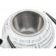Żeliwny biały dzbanek z tłoczeniami - 650ml