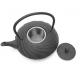 Żeliwny czarny dzbanek z tłoczeniami - 1000ml