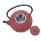 Żeliwny czerwony dzbanek z tłoczeniami - 1200ml