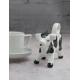 Porcelanowy biały mlecznik w kształcie łaciatej krówki