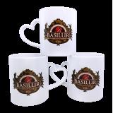 Kubek z logo BASILUR - uchwyt serce
