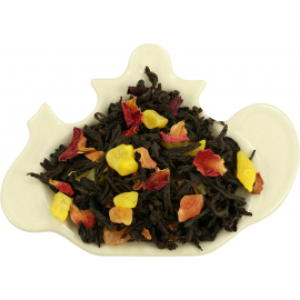 Czarna herbata z dodatkiem owoców mango, papai, płatków róży i kwiatów nagietka 100g